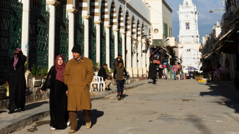 Market area in Tripoli's old town
